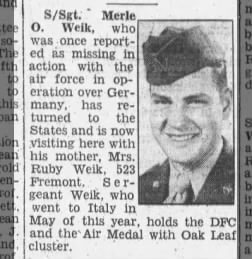Merle Weik WWII