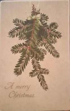 Vintage Christmas Card 1