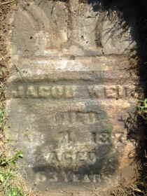 jacob weik tombstone freeport, illinois