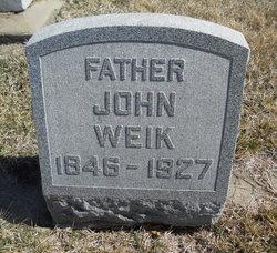john edward weik headstone