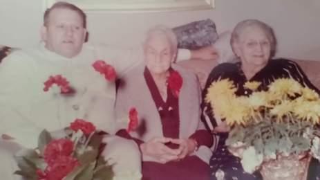 Eddie Weik, Anna Pultz Calvin, Rubie Weik 100th birthday