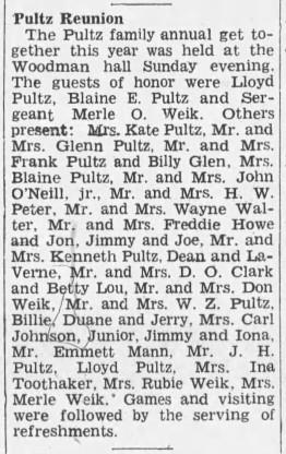 1943 Pultz Reunion